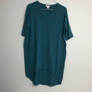 LuLaRoe Solid Teal Irma Oversized Slouchy Shirt
